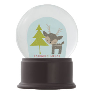 Little Reindeer Personalized Snow Globe