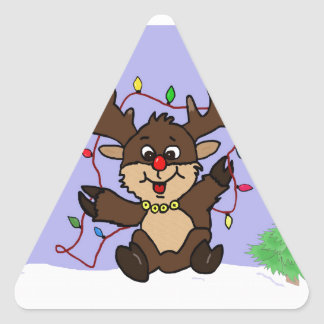 Little Reindeer Triangle Sticker
