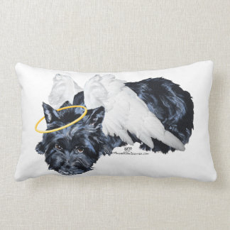 Little Resting Scottie Angel Lumbar Pillow