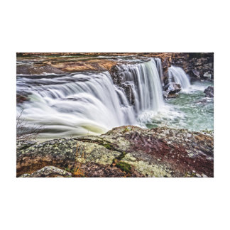 Little River Falls (West Side View) Canvas Print
