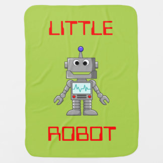 Little Robot Baby Blanket