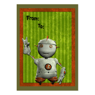 Little Robot Gift Tag Large Business Card