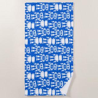 Little robots beach towel