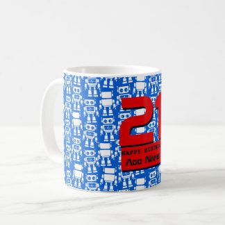 Little robots coffee mug