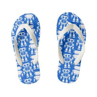 Little robots kid's flip flops