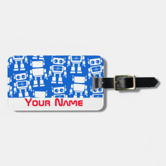 Little robots luggage tag
