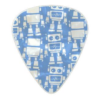 Little robots pearl celluloid guitar pick