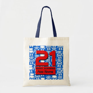 Little robots tote bag