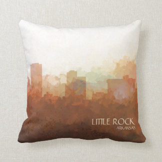 Little Rock, Arkansas Skyline-In the Clouds Throw Pillow