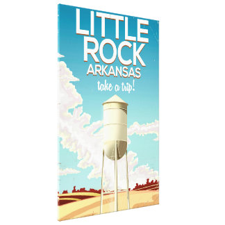 Little Rock Arkansas travel poster Canvas Print