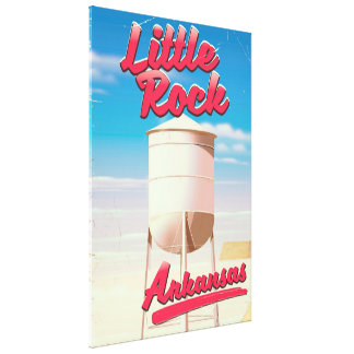 Little Rock, Arkansas vintage travel poster Canvas Print