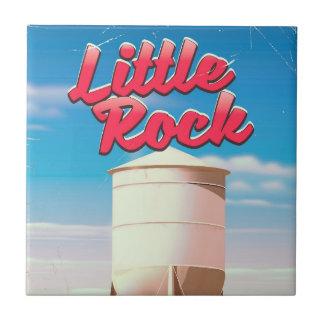 Little Rock, Arkansas vintage travel poster Tile