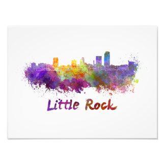 Little Rock skyline in watercolor Photo Print
