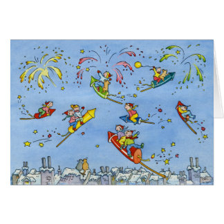 Little Rockets Happy New Year - Greeting Card