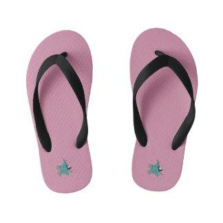 little rockstar kid's flip flops