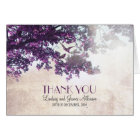 Little romantic thank you card with purple tree