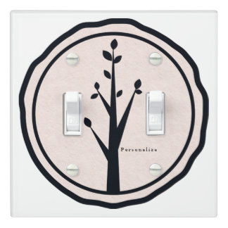 Little Rustic Tree Nature Minimalist Custom Decor Light Switch Cover