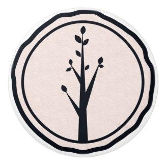 Little Rustic Tree Nature Minimalist Organic Theme Ceramic Knob