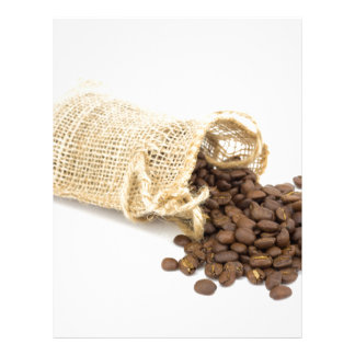 Little sackcloth with coffee beans custom letterhead