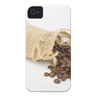 Little sackcloth with coffee beans iPhone 4 cover