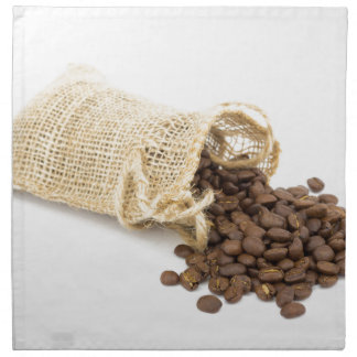Little sackcloth with coffee beans napkin