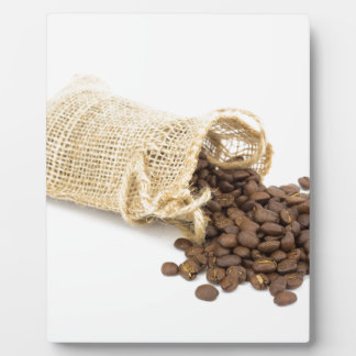 Little sackcloth with coffee beans plaque