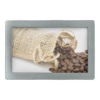 Little sackcloth with coffee beans rectangular belt buckles