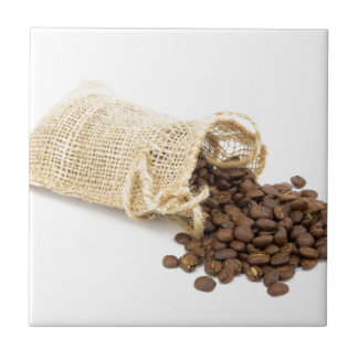 Little sackcloth with coffee beans tile