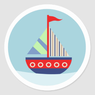 Little Sailboat Sail Away with me Envelope Seals