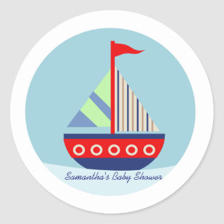 Little Sailboat Sail with me Favor Stickers