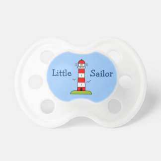 Little sailor boy pacifier | Nautical lighthouse