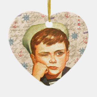 Little sailor ceramic ornament
