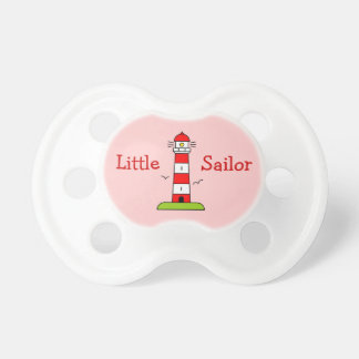 Little sailor girl pacifier | Nautical lighthouse