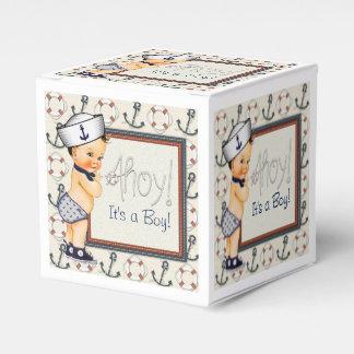 Little Sailor Nautical Baby Boy Shower Party Favor Box