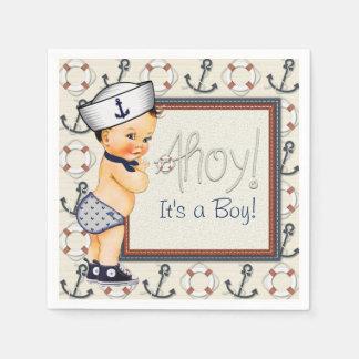 Little Sailor Nautical Baby Shower Paper Napkin