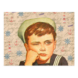 Little sailor postcard