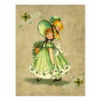 Little Saint Patty's Day Girl- Postcard