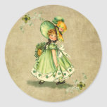 Little Saint Patty's Day Girl-  Sticker