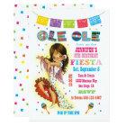Little Señorita Mexican Fiesta Birthday Party Card