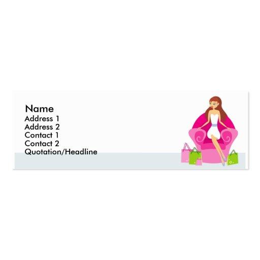 Little Shopper Profile Cards Business Card