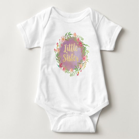 Little Sister Announcement Blouse Baby Bodysuit