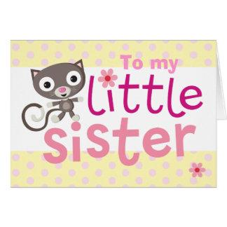 little sister cat card