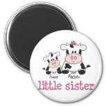 Little Sister Cow T-shirt 2 Inch Round Magnet