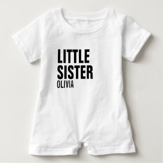 Little Sister Custom Baby Romper