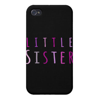Little sister in pink case for iPhone 4