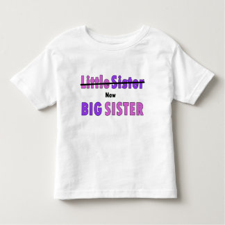 Little sister now Big sister purple pink text Toddler T-shirt