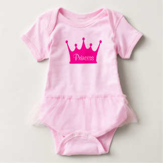 Little Sister Princess Crown Baby Bodysuit