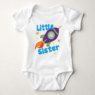 Little Sister Rocket Ship Baby Bodysuit