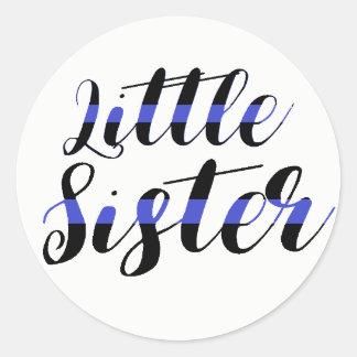 Little Sister Thin Blue Line Sticker Hospital Baby