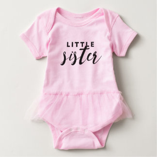Little Sister Tutu Baby Bodysuit